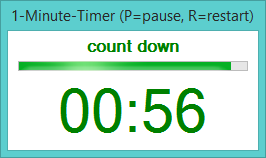 timer 1 minute